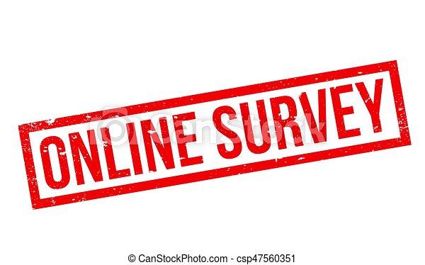 Online Survey rubber stamp - csp47560351