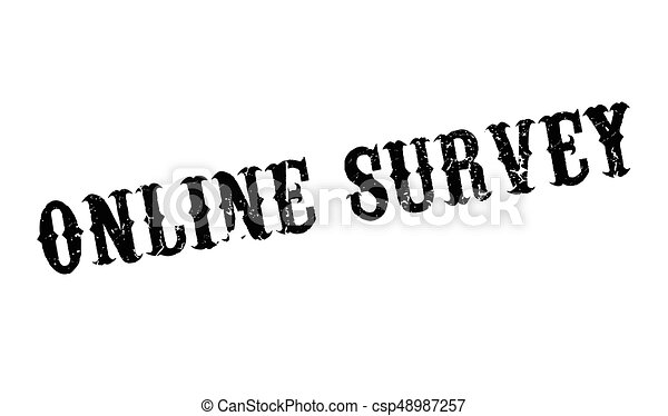 Online Survey rubber stamp - csp48987257