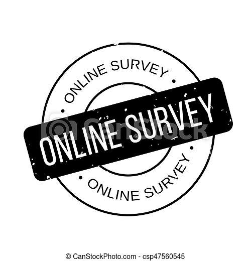 Online Survey rubber stamp - csp47560545