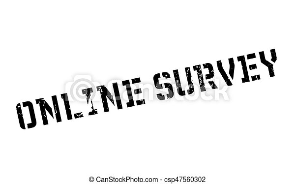 Online Survey rubber stamp - csp47560302