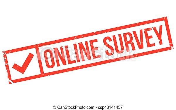 Online survey stamp - csp43141457