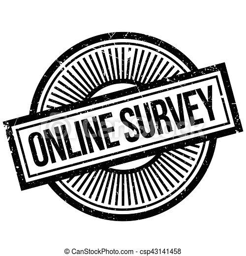 Online survey stamp - csp43141458