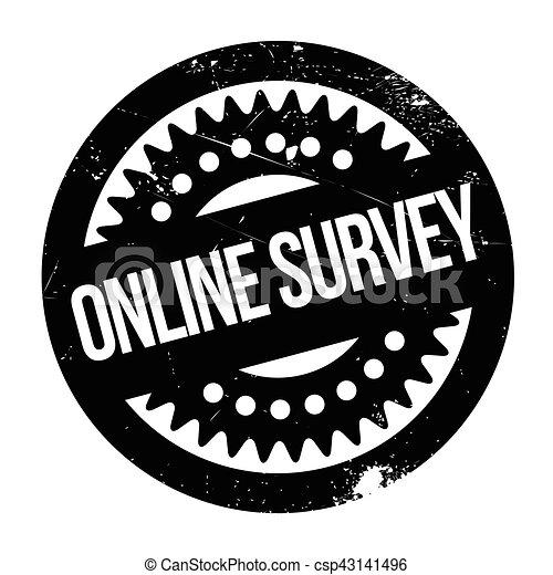 Online survey stamp - csp43141496