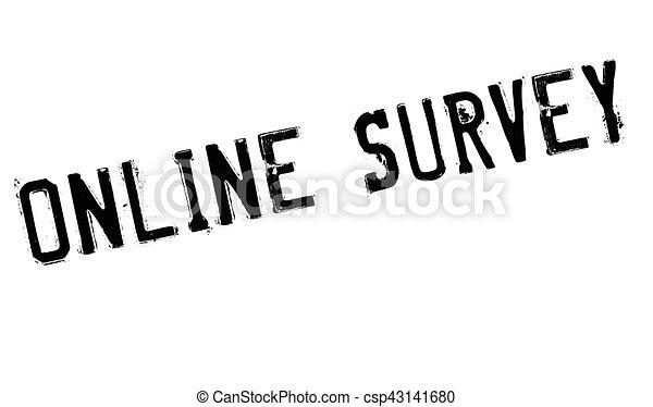 Online survey stamp - csp43141680