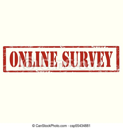 Online Survey-stamp - csp55434881
