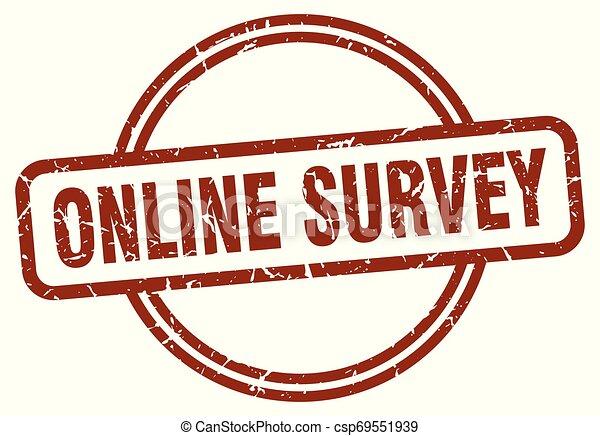 online survey stamp - csp69551939