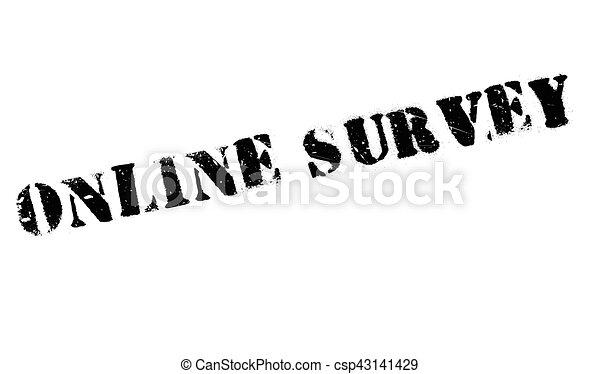 Online survey stamp - csp43141429