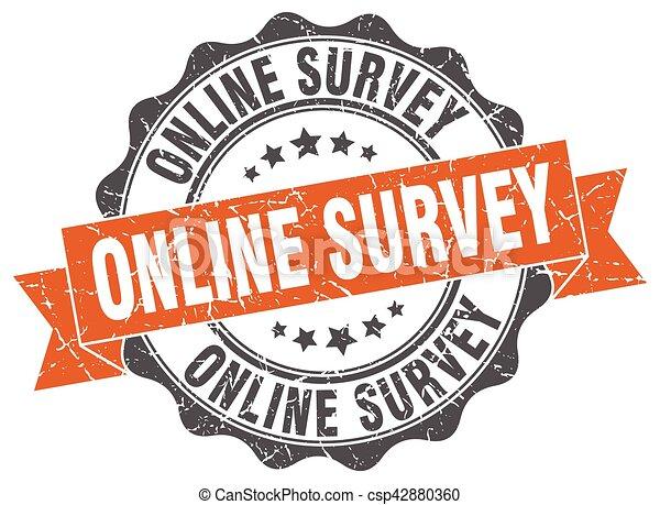 online survey stamp. sign. seal - csp42880360