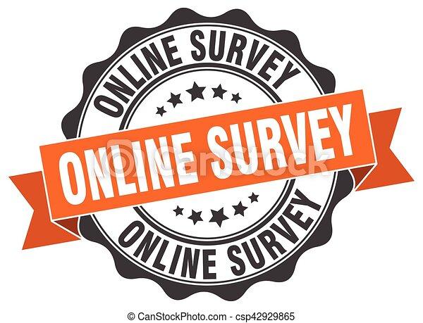 online survey stamp. sign. seal - csp42929865