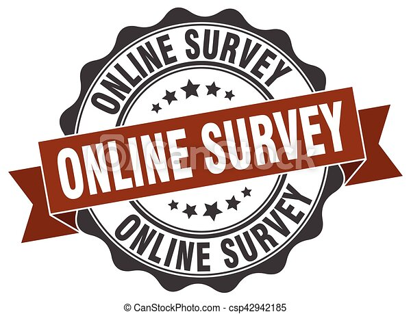 online survey stamp. sign. seal - csp42942185