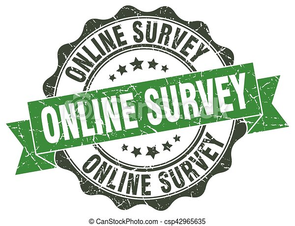 online survey stamp. sign. seal - csp42965635