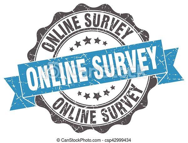 online survey stamp. sign. seal - csp42999434
