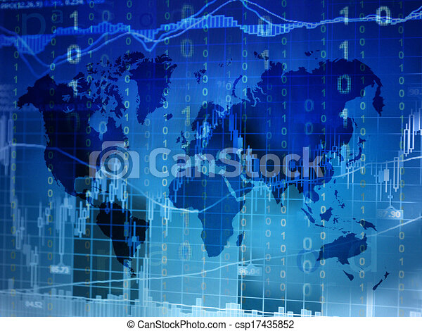 Online trading concept world map online trading concept with world online trading concept world map csp17435852 gumiabroncs Gallery