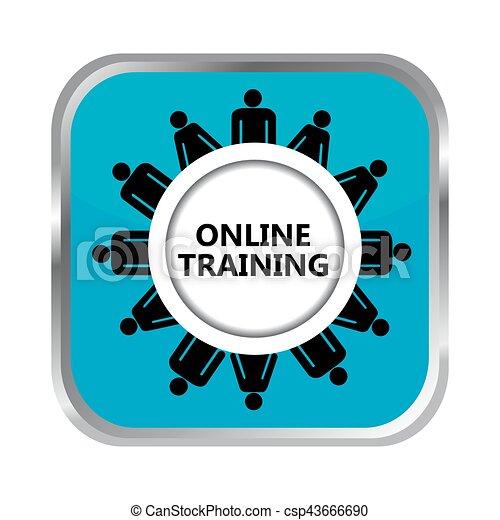 Online training button - csp43666690
