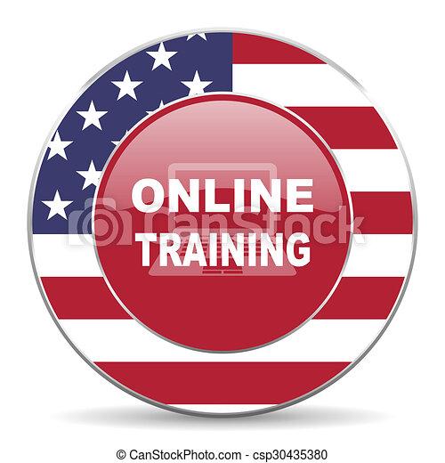 online training icon - csp30435380