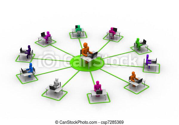 online, treinamento - csp7285369