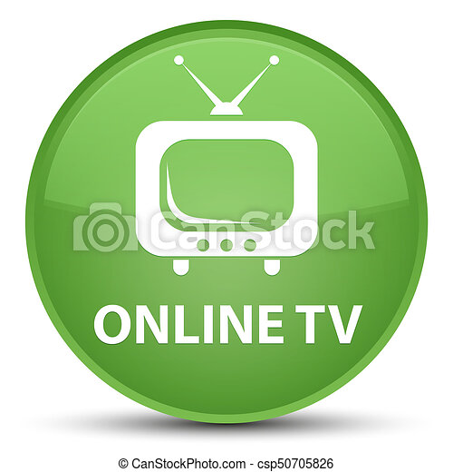 Online tv special soft green round button - csp50705826