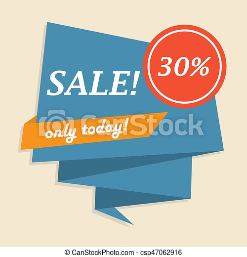 Only Today Sale Ribbon Banner In A Flat Design