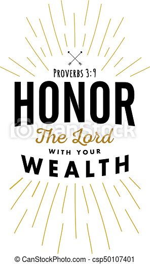 onor the Lord with your Wealth - csp50107401