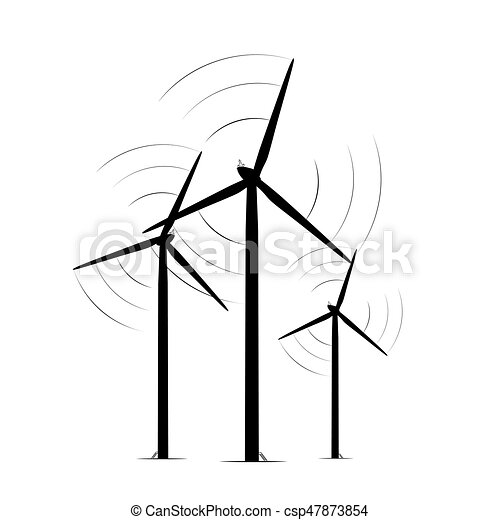onshore wind turbine towers renewable energy farm rotating rh canstockphoto com