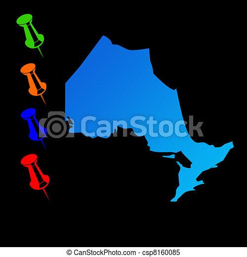 Ontario travel map - csp8160085