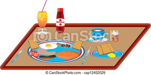 ontbijt, engelse  - csp12452029