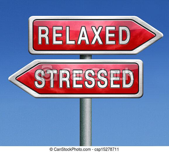 ontspannen, of, beklemtoonde - csp15278711