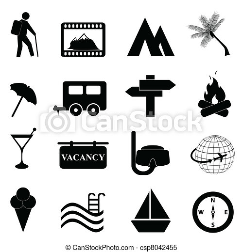 ontspanning, set, vrije tijd, pictogram - csp8042455