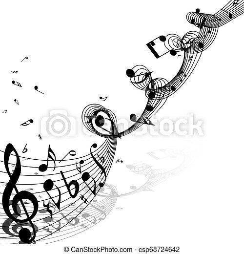 ontwerp, muzikale aantekeningen - csp68724642