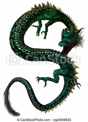oostelijk, draak - csp0506833