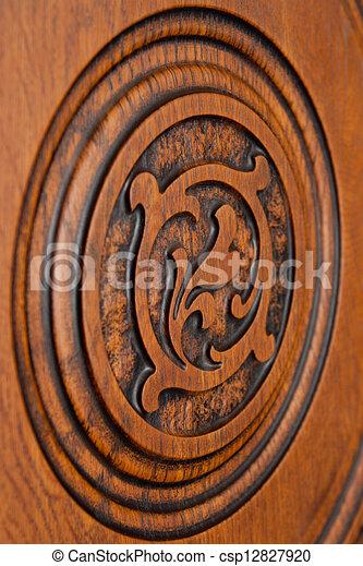 oosten, knippen, ornament, plank, uit - csp12827920