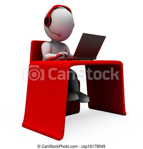 opérateur, helpdesk, hotline, soutien, spectacles - csp16179549