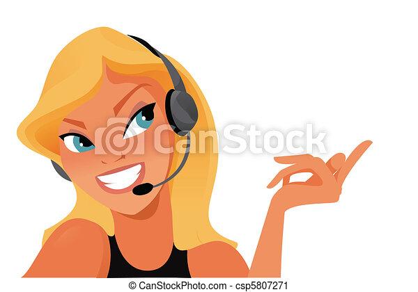 opérateur, téléopérateur - csp5807271