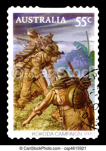 opłata pocztowa, australia, tłoczyć, :, -, odwołany, australijski, circa, 2010 - csp4615921