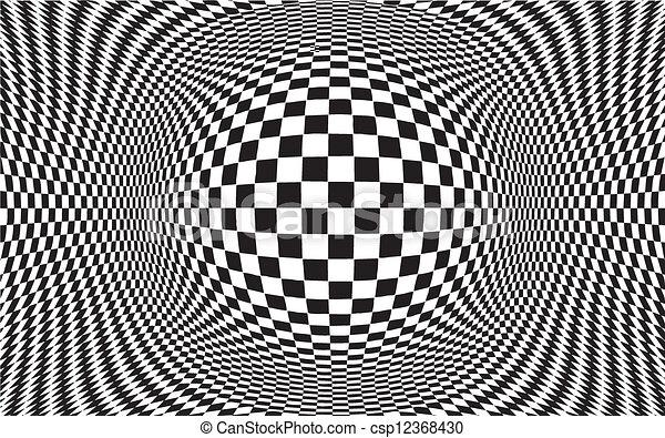 Op Art Design Pattern Background - csp12368430