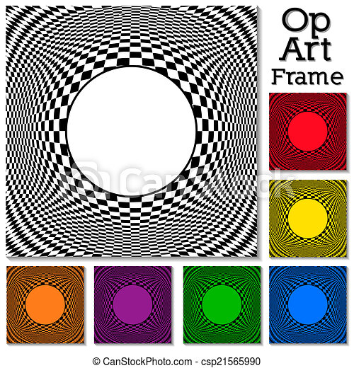 Op Art Design Patterns with Frame - csp21565990