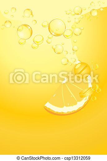 opbruisend, c, pillen, vitamine - csp13312059