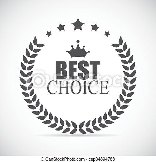 opción, vector, mejor, ilustración, etiqueta - csp34894788