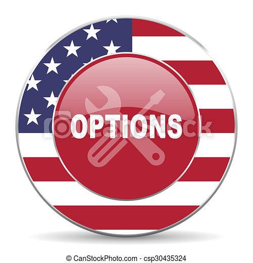Opciones de icono - csp30435324