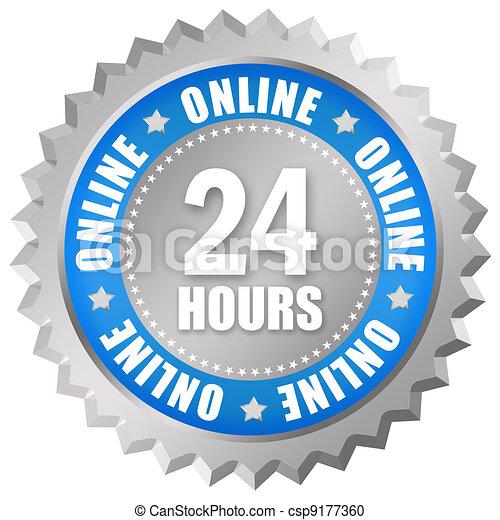 Open 24 hour sign - csp9177360
