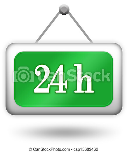 Open 24 hour sign - csp15683462