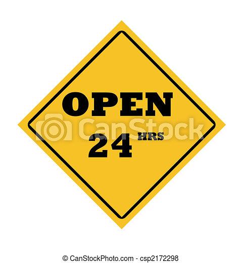 Open 24 hours sign - csp2172298