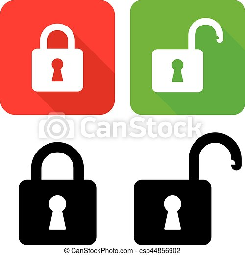 vector illustration of open and close padlocks with their vector rh canstockphoto com padlock vector free download padlock vector art
