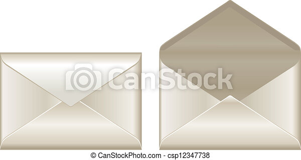 Open and closed envelopes - csp12347738