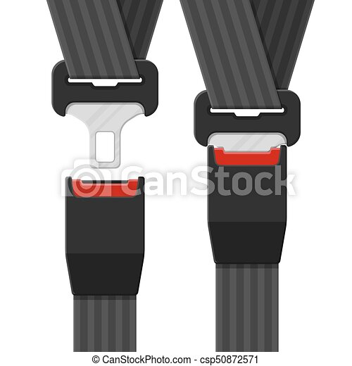 Open and closed safety belt. - csp50872571