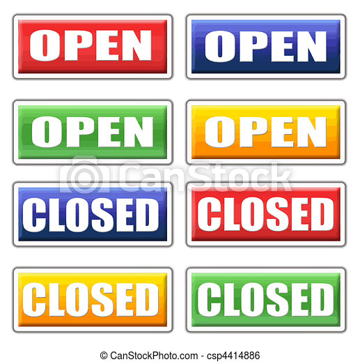 store closed signs