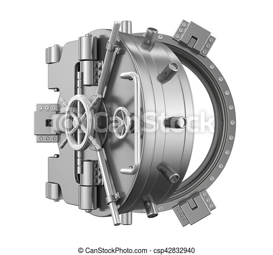 Open Bank Vault Door - csp42832940  sc 1 st  Can Stock Photo & Open bank vault door illustration. 3d render drawing - Search Clip ...