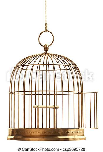 Open Bird Cage - csp3695728