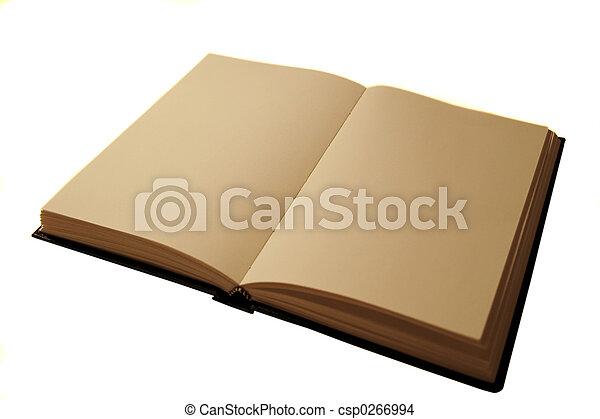 open blank book - csp0266994