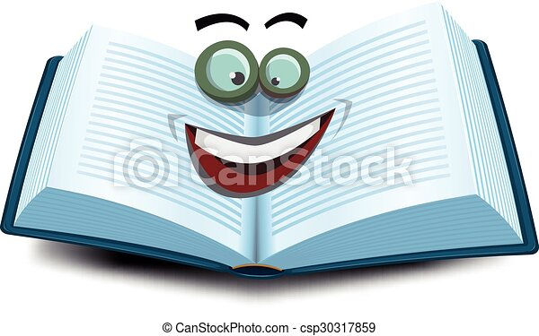 open book character icon illustration of a cartoon opened rh canstockphoto com  open book graphic images